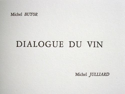 Dialogue du vin